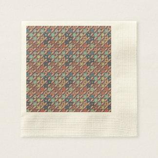 Vintage mosaic talavera ornament disposable napkins