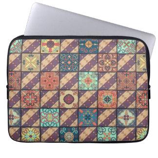 Vintage mosaic talavera ornament laptop sleeve
