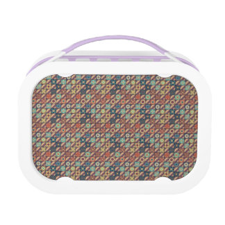 Vintage mosaic talavera ornament lunch box