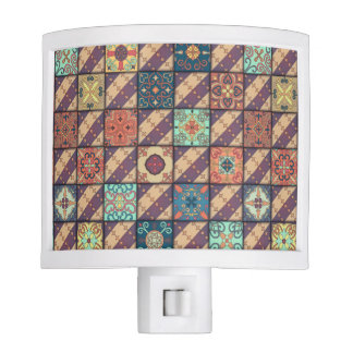 Vintage mosaic talavera ornament night light