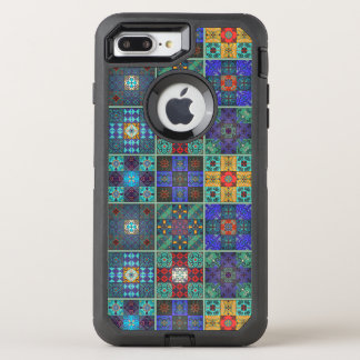 Vintage mosaic talavera ornament OtterBox defender iPhone 8 plus/7 plus case