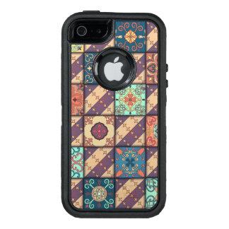 Vintage mosaic talavera ornament OtterBox defender iPhone case