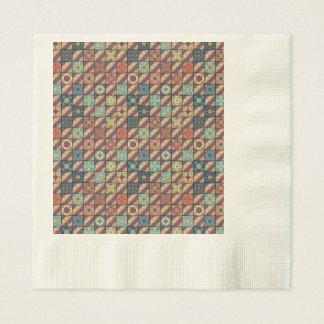 Vintage mosaic talavera ornament paper napkins