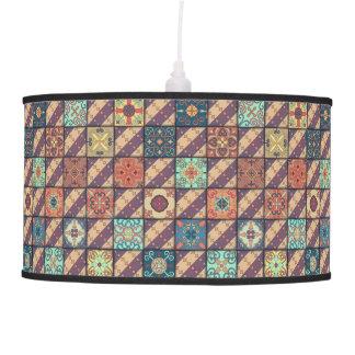 Vintage mosaic talavera ornament pendant lamp