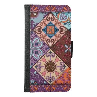 Vintage mosaic talavera ornament samsung galaxy s6 wallet case