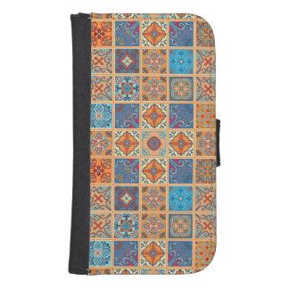 Vintage mosaic talavera ornament samsung s4 wallet case