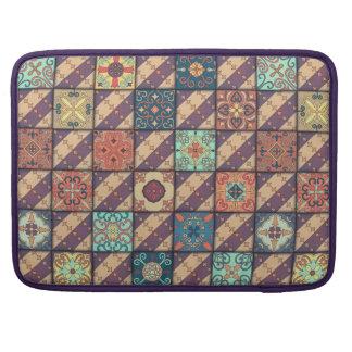 Vintage mosaic talavera ornament sleeve for MacBooks