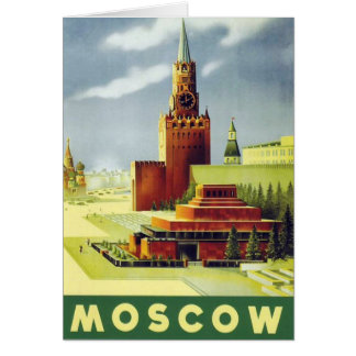 Vintage Moscow Poster Card