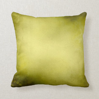 Vintage Moss Green Olive Green Distressed Throw Pillow
