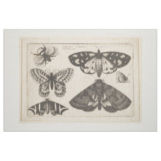 Vintage Moth Butterfly Bee Insect Tapestry (65) Fabric