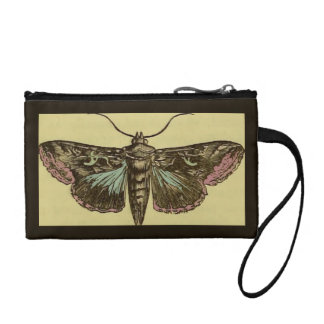 Vintage Moth Coin Purse
