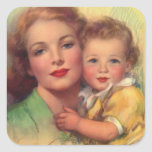 Vintage Mother and Child Portrait Stickers
