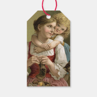Vintage Mother & Child Mother's Day Gift Tags