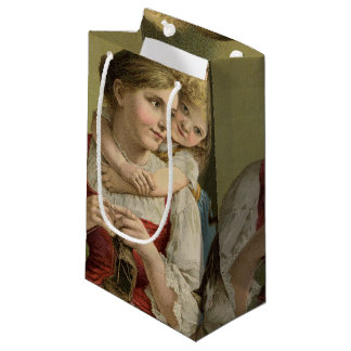 Vintage Mother & Child Mother's Day Small Gift Bag
