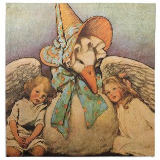 Vintage Mother Goose Children Jessie Willcox Smith Napkins
