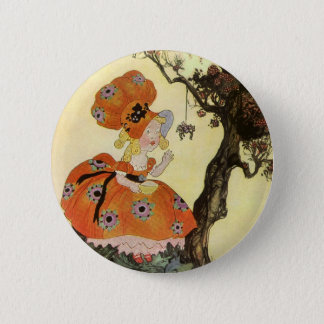 Vintage Mother Goose Nursery Rhyme Poem 2 Inch Round Button