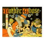 Vintage Mother Goose Reading Books to Children