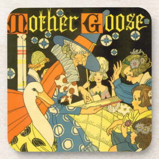 Vintage Mother Goose Reading Books to Children Coasters