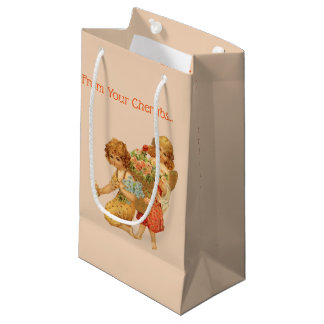 Vintage Mother's Day Cherubs Small Gift Bag