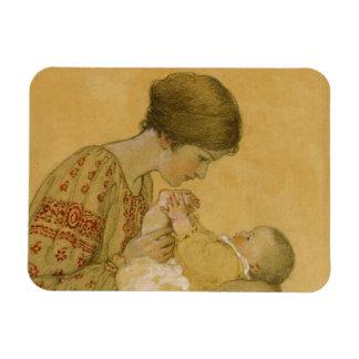 Vintage Motherhood Painting Magnet