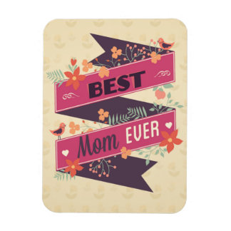 Vintage Mother's Daay Ribbon Greeting Magnet