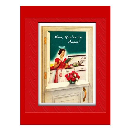 Vintage Mother's Day Angel Postcard