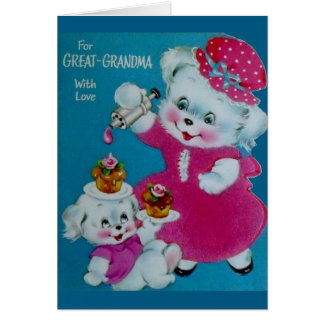 Vintage Mother's Day Card For Great Grandmother