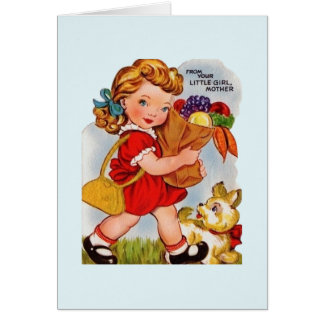 Vintage Mother's Day From Little Girl Card