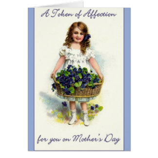 Vintage Mother's Day - Token of Affection, Card