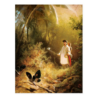 Vintage Motive - Butterfly Catcher Postcard