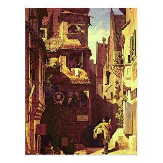 Vintage- Motive, Postman in Rosenthal Postcard