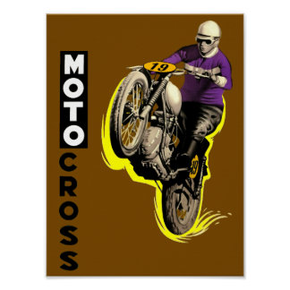 Vintage Motocross Poster