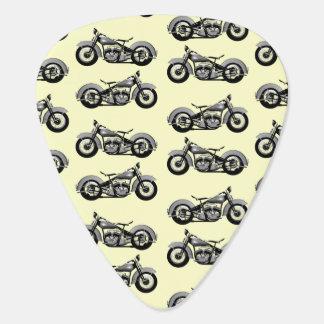 Vintage Motorbike Pattern Guitar Pick