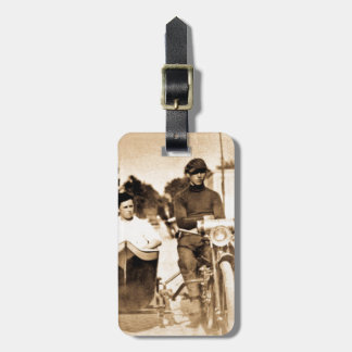 Vintage Motorcycle and Side Car Old School Cool Luggage Tag