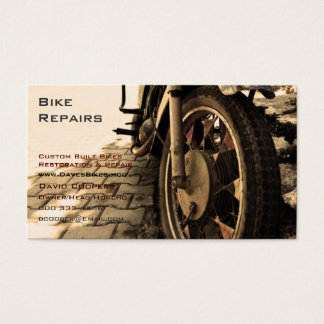 Vintage Motorcycle Business Card