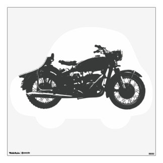 Vintage Motorcycle Custom Wall Decal