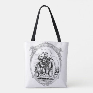 Vintage Motorcycle- Fathers Day-Birthday Tote Bag