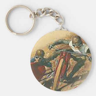 Vintage Motorcycle Flat Track Advert Keychain