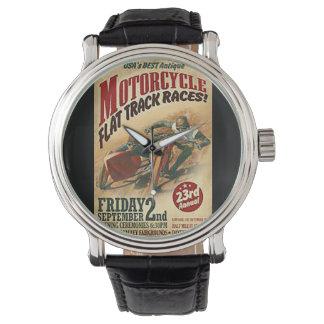 Vintage Motorcycle Flat Track Advert Watch