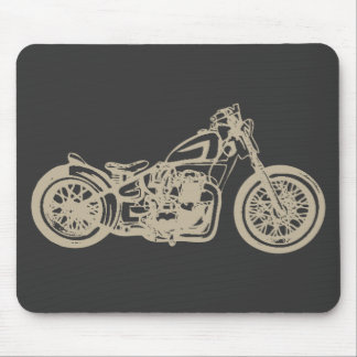 Vintage Motorcycle Illustration Mouse Pad