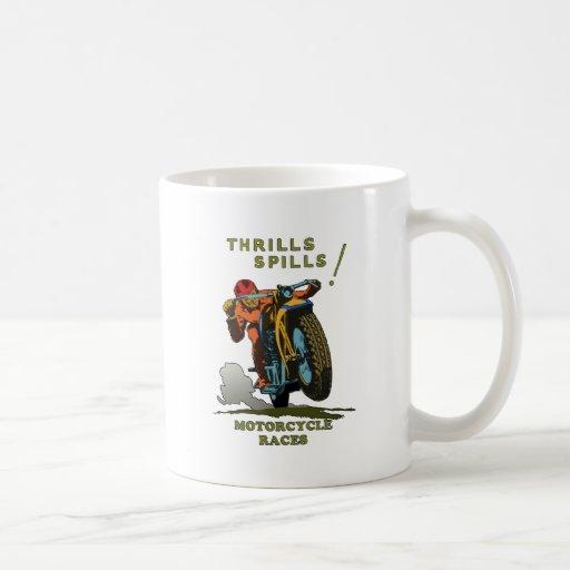 Vintage Motorcycle Poster Coffee Mug