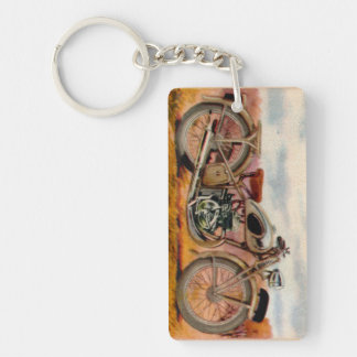 Vintage Motorcycle Print Keychain