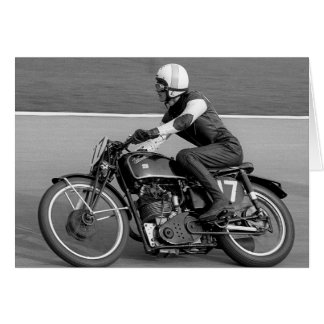 Vintage Motorcycle Racing Greeting Card