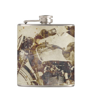 Vintage Motorcycle Rider Hip Flask