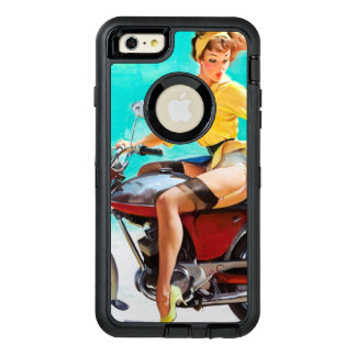Vintage Motorcycle Rider Pinup Girl OtterBox iPhone 6/6s Plus Case