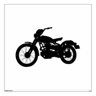 Vintage Motorcycle Wall Decal