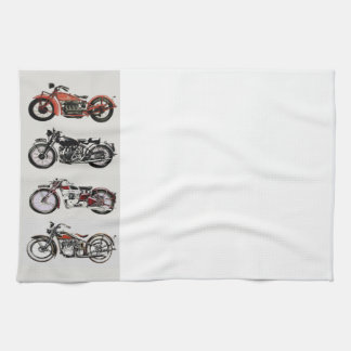 VINTAGE MOTORCYCLES KITCHEN TOWEL