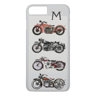 VINTAGE MOTORCYCLES MONOGRAM iPhone 7 PLUS CASE