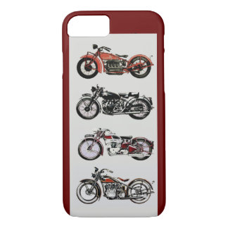 VINTAGE MOTORCYCLES ,Red iPhone 7 Case
