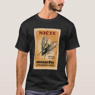 Vintage Mouchy Mouca Zalta House Fly Czech Art T-Shirt
